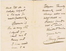 Harry Furniss Autograph Letter Signed - Punch